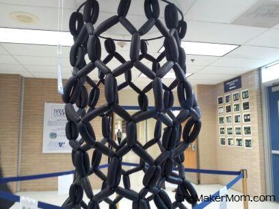 carbon nanotube scaled up. It's hard to visualize the nanoscale