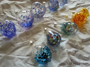 Ornaments made at Chicago Hot Glass