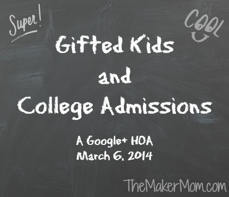 Gifted kids and college admission