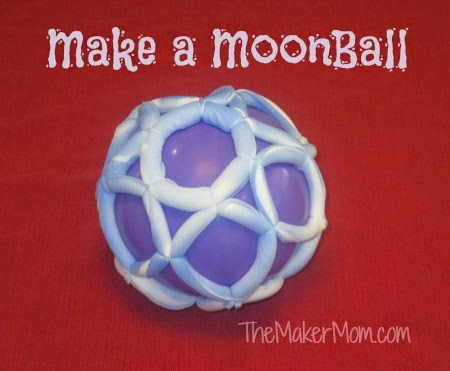 use old pantyhose to make a moon ball game or toy