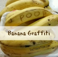 banana graffiti at TheMakerMom.com