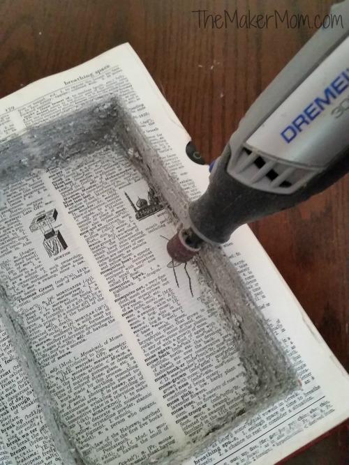 Make a DIY Book safe with www.TheMakerMom.com