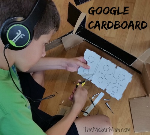 Cutting out Google Cardboard VR headset