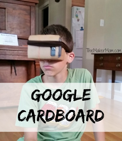 Google Cardboard DIY virtual reality glasses. See how The Maker Mom does it!