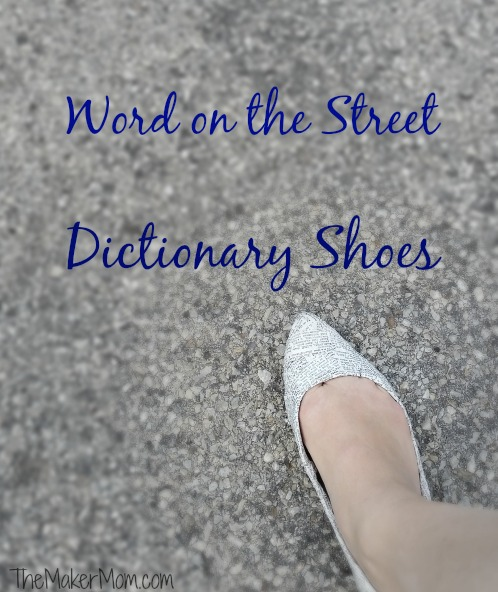 decoupage shoes, dictionary shoes from www.themakermom.com
