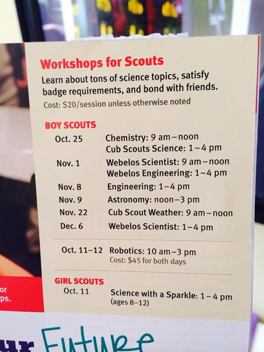 carnegie-science-classes for boy scouts and girl scouts