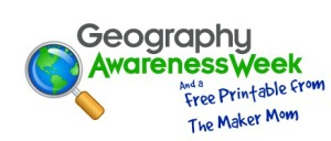 Geography Awareness Week Free Printable