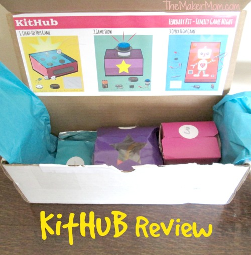 KitHub monthly electronics kits for kids and families reviewed on TheMakerMom.com