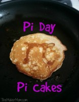 Pi Cake pancakes for Pi Day breakfast from www.TheMakerMom.com.