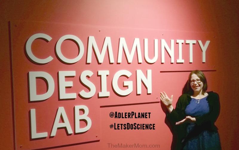 Adler Planetarium Community Design Lab on www.TheMakerMom.com