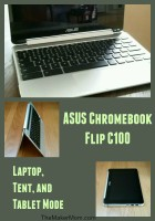 ASUS Chromebook Flip C100 reviewed on www.TheMakerMom.com.