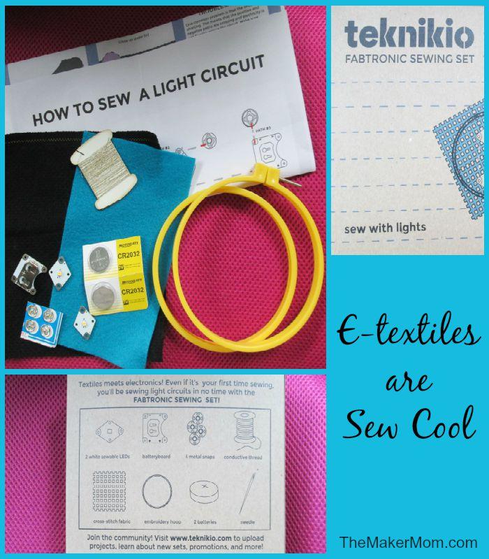 Teknikio e-textile kit reviewed on www.TheMakerMom.com.