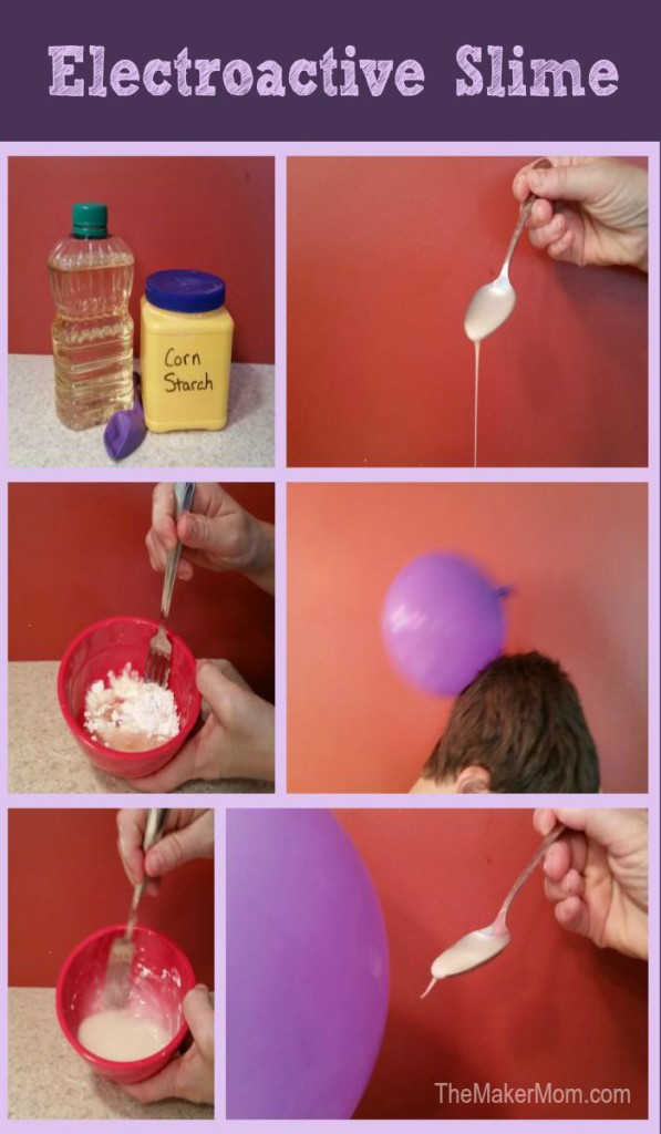 How to make electroactive slime at www.TheMakerMom.com.