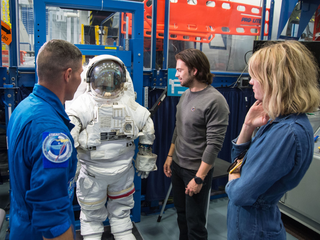 The Martian cast got a tour of Johnson SPace Center. Photographer: James Blair