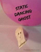StaticBring a ghost to life with the Static Dancing Ghost Halloween Science Experiment from www.TheMakerMom.com!
