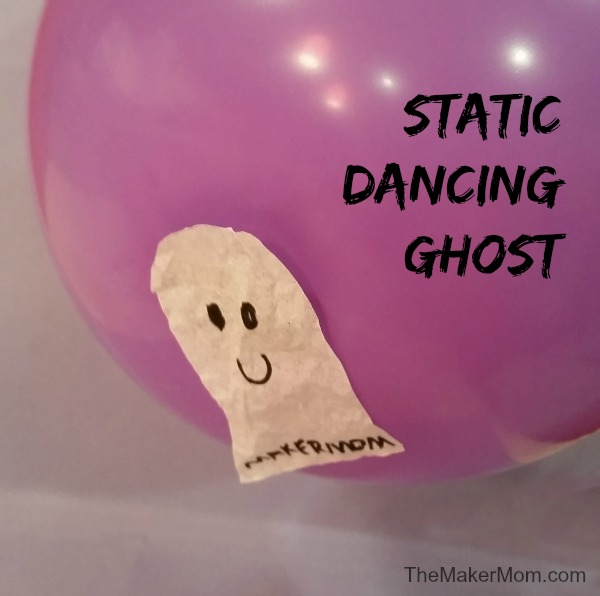 Bring a ghost to life with the Static Dancing Ghost Halloween Science Experiment from www.TheMakerMom.com!