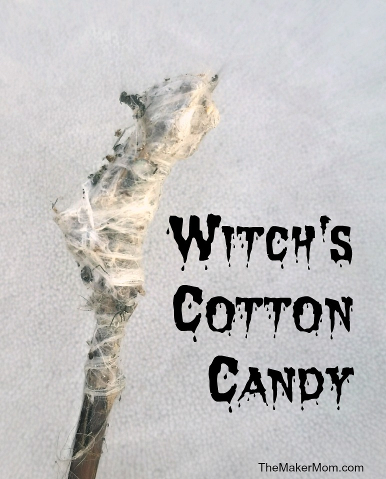 How to Make Witch's Cotton Candy for Halloween.