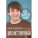Books Make Great Gifts! Breakthrough by Jack Andraka
