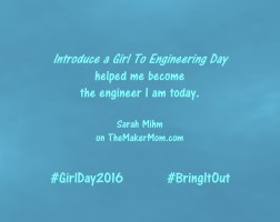 Meet Sarah Mihm, an engineer who got her start thanks to Introduce a Girl to Engineering Day!