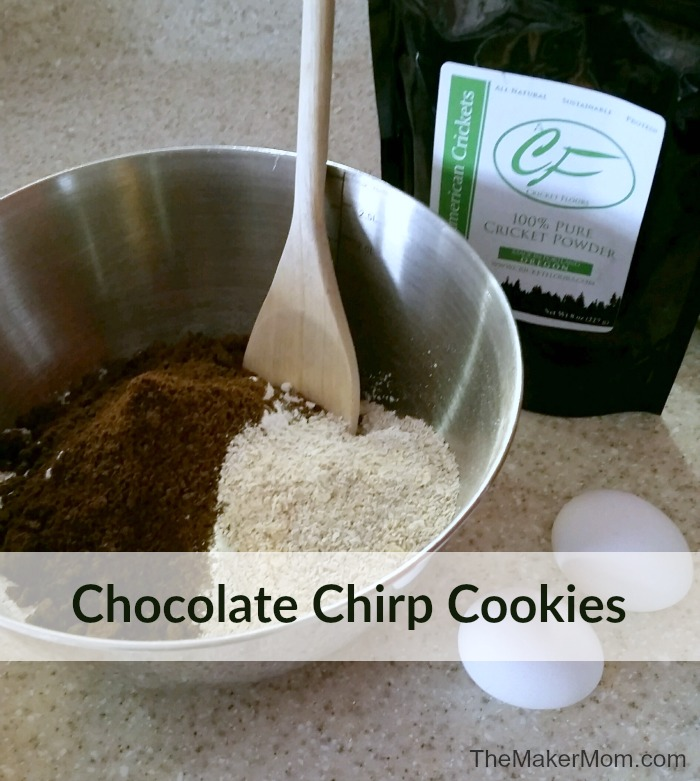 Chocolate Chirp Cookies. Tasty cricket flour cookies with chocolate chips. Recipe at www.TheMakerMom.com.