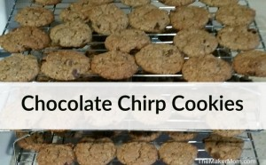 Chocolate Chirp Cookies. Tasty cricket flour cookies. Recipe at www.TheMakerMom.com.