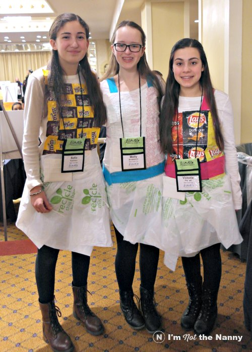 Future City 2016. The New York team in this middle school engineering competition to the theme of managing solid waste to hear by donning clothes made out of upcycled materials.