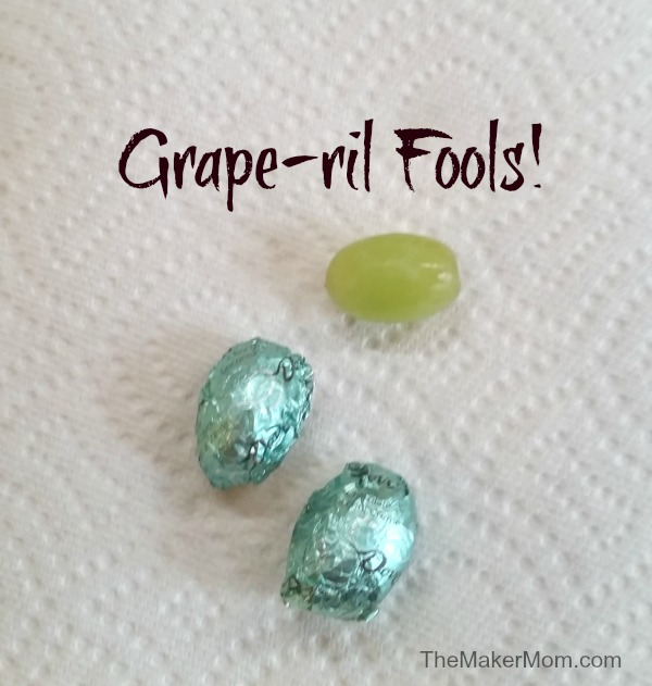 Grape-ril Fools! Don't miss these four family friendly April Fools pranks on TheMakerMom.com
