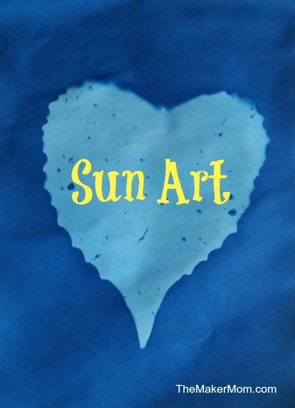 Make sun art, or sun prints, with The Maker Mom..
