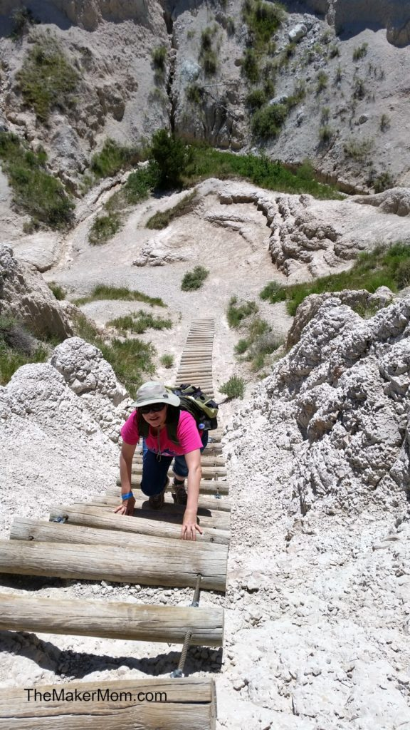 Notch Hike at Badlands National Park in South Dakota, park of the Best Wild West Vacation