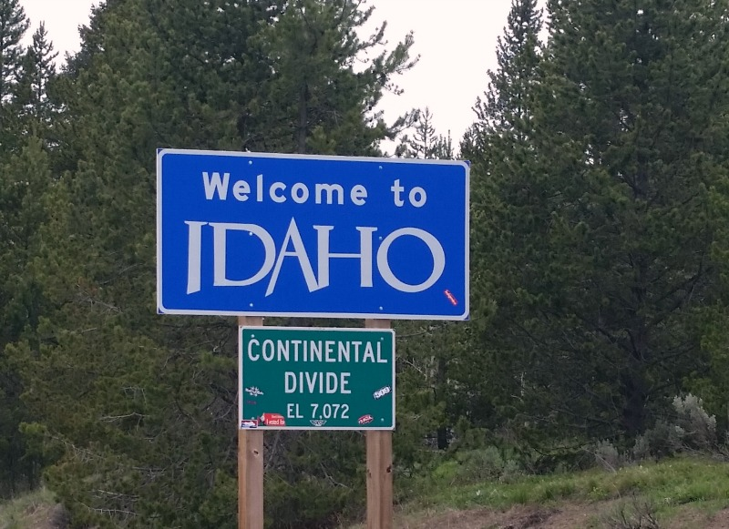 Welcome to Idaho road sign.
