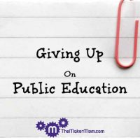 Gifted education: Giving up on public education