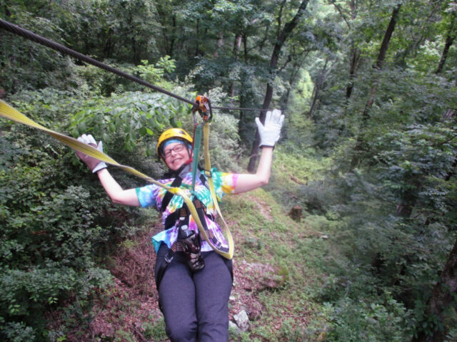 ziplining in the Shawnee National Forest